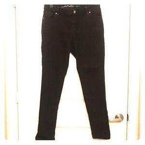 Black Curvy Skinny Jeans from INC